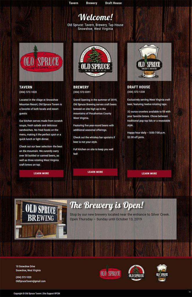 Old Spruce website