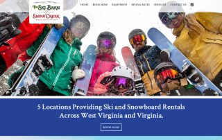 Ski Barn website home page